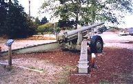 A 155mm gun on Display at Fort Stevens.