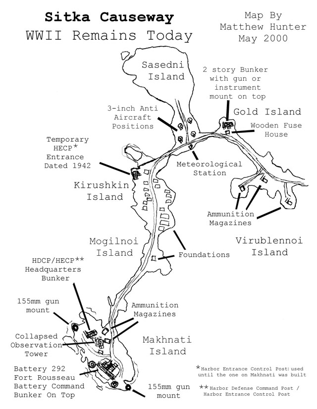 Map of the causeway.  CLICK TO ENLARGE