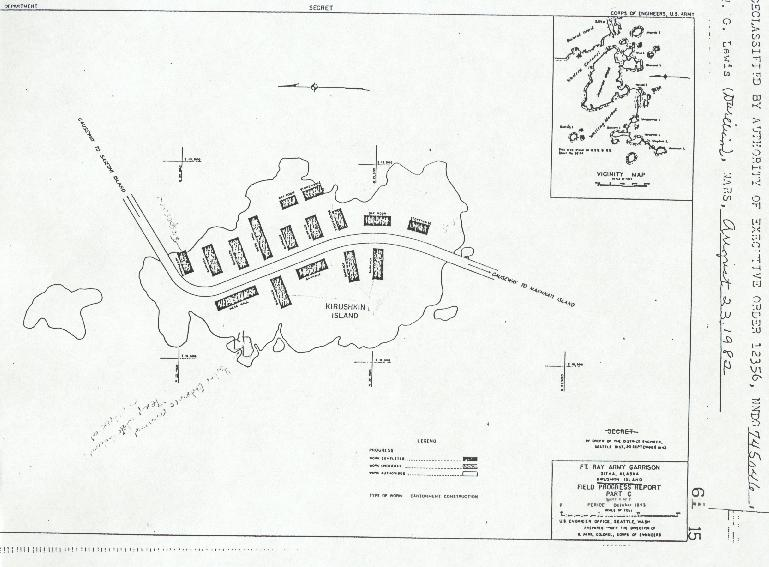 Army map of Kirushkin Island    CLICK TO ENLARGE