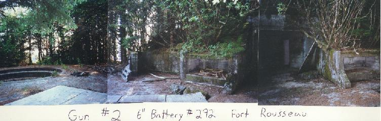 A panoramic view of the side entrance to battery 292 by the mount for gun#2