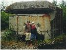 My dad and me by the Battery Command on top the Battery 291, Fort Peirce, Biorka Island.