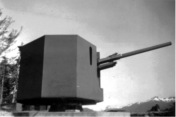 90mm AMTB gun on Whale Island