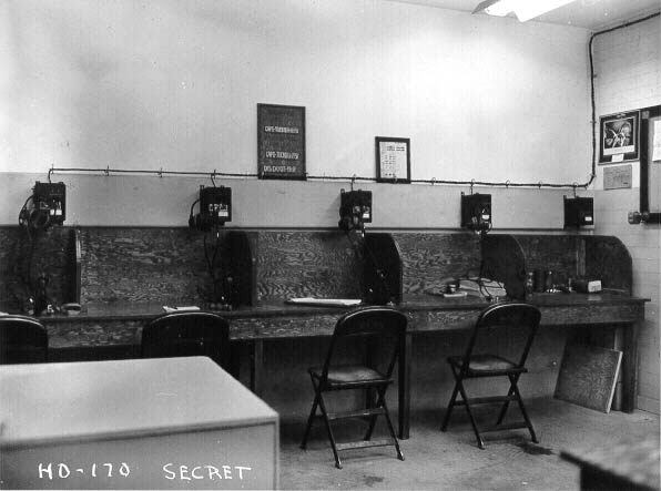 Telephone switchboard room of the HECP/HDCP