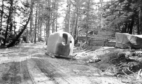Turret of a 6-inch gun before emplacement