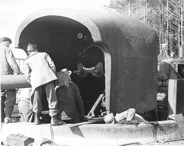 6-inch gun turret close-up