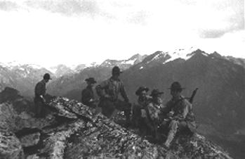 Servicemen on Mt. Verstovia