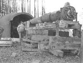 The instalation of a 6-inch gun at battery292