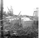 The construction of battery 292-There is a big crane in the lower left