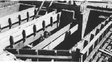 Building the emplacement for a 3-inch AA gun
