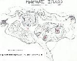 Hand drawn map showing Makhnati WWII remains in detail